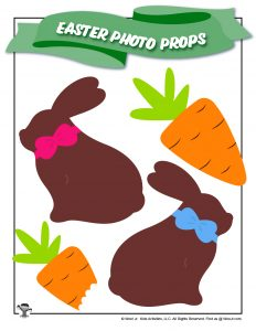 Chocolate Easter Bunny Printable Photo Prop