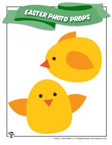 Easter Chicks Decor Photo Stick Prop
