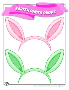 Easter Bunny Headband Photo Booth Prop