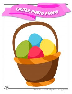 Easter Egg Basket Printable Photo Booth Prop