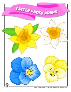 Easter Flowers Cutout Photo Prop