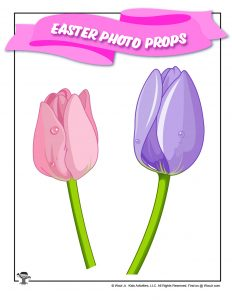 Easter Tulips Photo Booth Stick