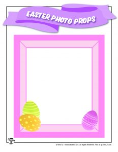Easter Photo Frame Printable Prop