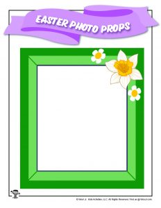Spring Easter Printable Photo Frame
