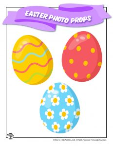 Easter Eggs Photo Booth Prop