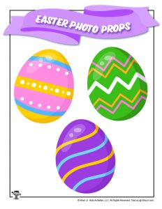 Spring Easter Eggs Printable Photo Prop