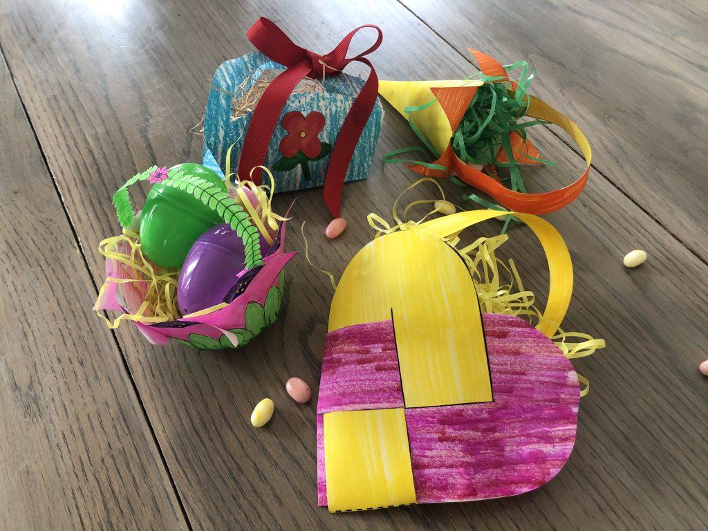 Printable Spring Paper Basket Craft