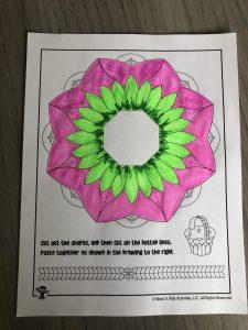 Paper Craft Spring Basket Template