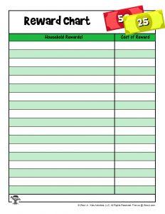 Printable Reward System for Kids