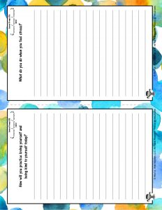 Journaling for Kids Page