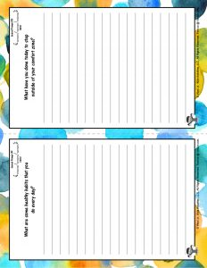 Kids Journal Pages with Prompts