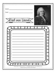 Linnaeus Taxonomy Lesson Writing Pages