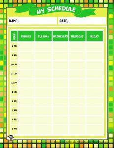 Calendar Planner Page Printable