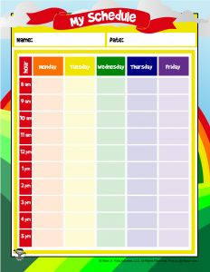 Printable Elementary School Schedule for Kids