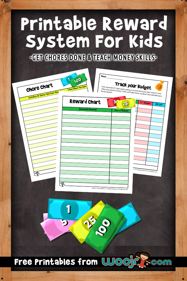 Motivate kids to accomplish their chores with this Printable Reward System For Kids!