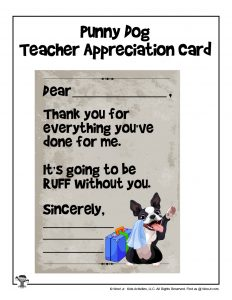 Printable Teacher Appreciation Card