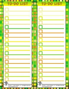Printable To Do List for Teens