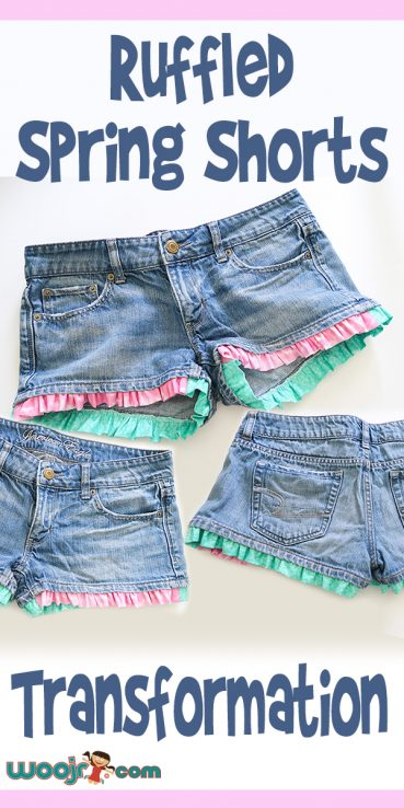 Ruffled Spring Shorts Transformation