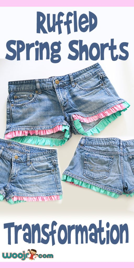 Ruffled Spring Shorts Transformation