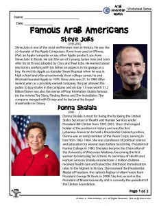 Teach Kids About Famous Arab Americans
