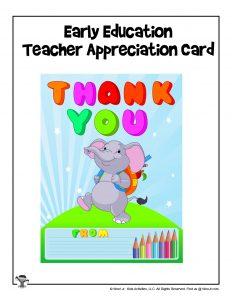 Printable Thank You Card for Teachers