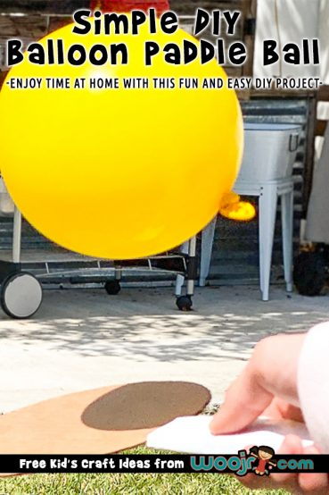 DIY Balloon Paddle Ball Game