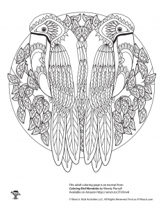 Adult Coloring Printable Birds