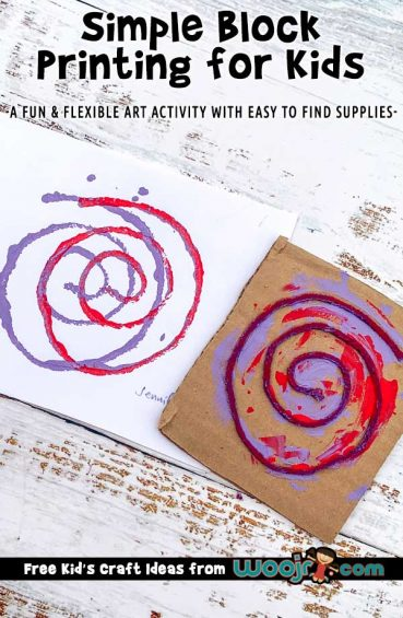 Simple Block Printing for Kids