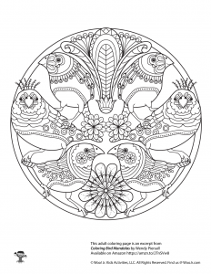 Mandala Bird Coloring Page