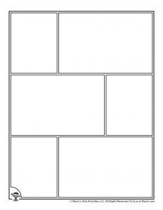 Printable Comic Strip Panels