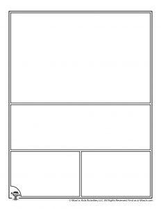 Printable Blank Comic Book Page