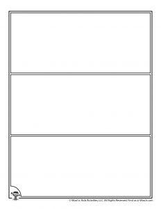 Blank Three Row Comic Template