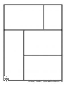 Blank Printable Comic Panel