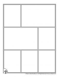 Printable Comic Strip Page Template