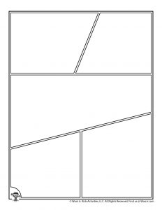 Center Action Blank Comic Page