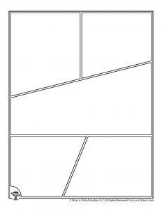 Angled Comic Strip Page