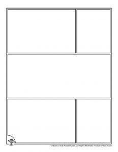 Comic Strip Printable Page for Kids