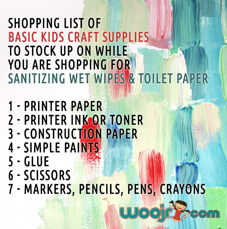 Basic Kids Craft Supply List