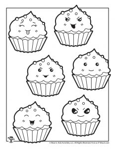 Cute Cupcake Coloring Sheet