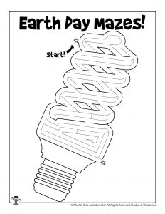 Energy Efficient Lightbulb Printable Maze