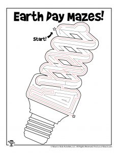 Energy Efficient Lightbulb Printable Maze - KEY