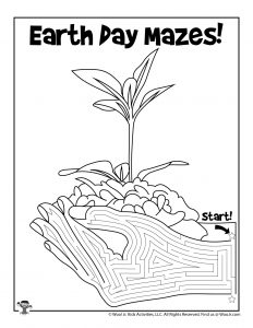 New Plant Growth Earth Day Maze
