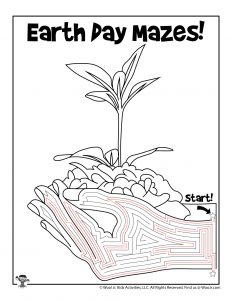 New Plant Growth Earth Day Maze - KEY