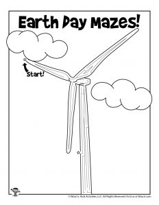 Wind Turbine Earth Day Maze