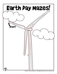 Wind Turbine Earth Day Maze - ANSWER KEY