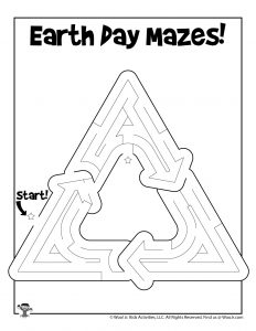 Recycle Earth Day Maze Puzzle