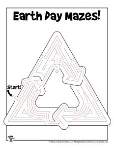 Recycle Earth Day Maze Puzzle - KEY
