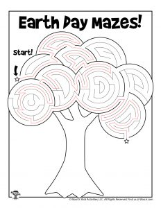 Earth Day Tree Labyrinth Maze - KEY