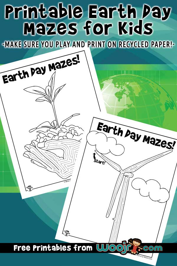 Printable Earth Day Mazes