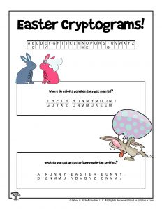 Printable Easter Cryptogram Puzzle - KEY